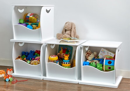 Stacking Open Toy Storage Trunks